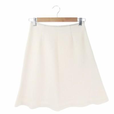 【中古】アナディス dun a dix スカート フレア ひざ丈 フォーマル 36 白 ホワイト /AH1 ☆ レディース