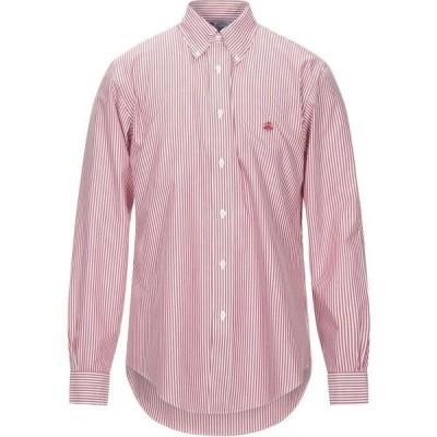 ブルックス ブラザーズ BROOKS BROTHERS メンズ シャツ トップス Striped Shirt Brick red