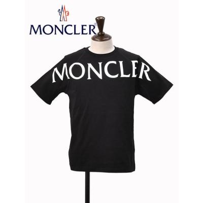 モンクレール MONCLER 半袖Tシャツ メンズ クルーネックカットソー ブランドロゴプリント Matt Black コレクション ブラック でらでら 公式ブランド