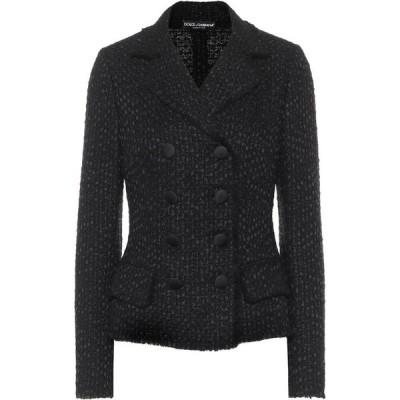 ドルチェ&ガッバーナ Dolce & Gabbana レディース スーツ・ジャケット アウター Double-Breasted Tweed Blazer Nero