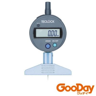 テクロック デジタルデプスゲージ 測定範囲0〜12mm 1個 DMD210S2 ※配送毎送料要