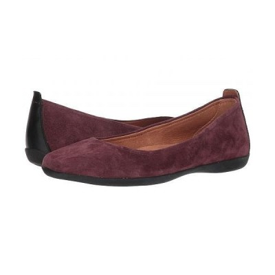 Sudini レディース 女性用 シューズ 靴 フラット Lily - Burgundy Suede