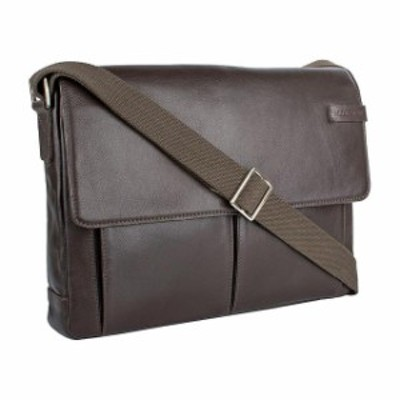 Hidesign  旅行用品 キャリーバッグ Hidesign Travolta Medium Leather Messenger - Brown Messenger Bag NEW