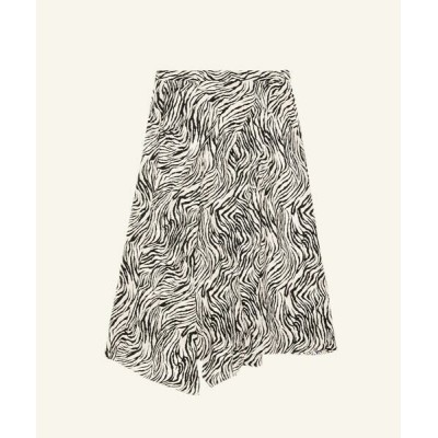 TOMORROWLAND/トゥモローランド ISABEL MARANT CACIA シルクプリント 柄 ミディ丈スカート 18 ブラック系 34
