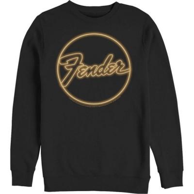 フィフス サン Fifth Sun メンズ スウェット・トレーナー トップス Fender Neon Logo Sweatshirt black