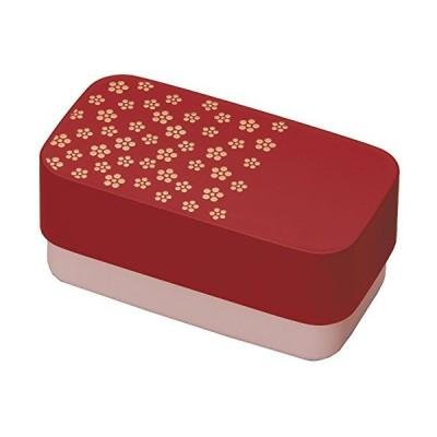 にっぽん伝統色 和文様 長角弁当 古代朱 梅文 73611-8