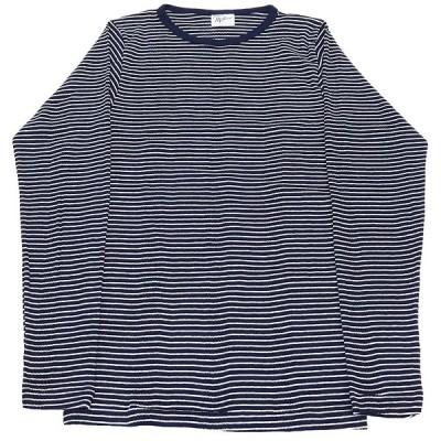 RP MILLER BORDER LONG SLEEVE TEE(ミラーボーダー長袖Tシャツ) (ネイビーXホワイト)