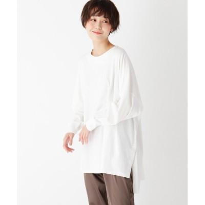 OPAQUE.CLIP / ワイドシルエットロングスリーブTシャツ【LOUNGEWEAR】 WOMEN トップス > Tシャツ/カットソー
