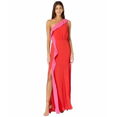 ビーシービージーマックスアズリア ワンピース トップス レディース Color-Blocked Gown Rosso Combo