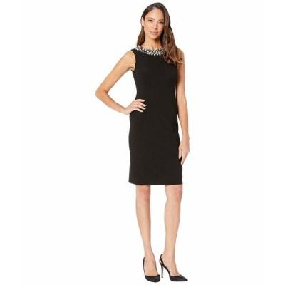 カルバンクライン ワンピース トップス レディース Pearl Neck Sheath Dress Black