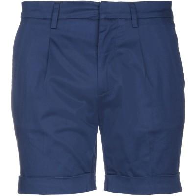 GAZZARRINI ショートパンツ ブルー 52 コットン 98% / ポリウレタン 2% ショートパンツ