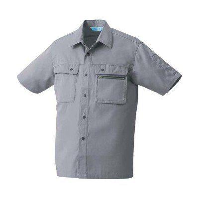 クロダルマ(KURODARUMA) 半袖シャツ グレー 26371 作業着 作業服 作業シャツ 春夏用 メンズ レディース