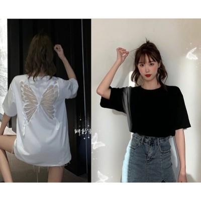 全2色 半袖Tシャツ 2点セット 切り替え 体型カバー 着痩せ シンプル カジュアル