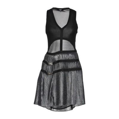 VERSUS VERSACE ミニワンピース&ドレス ブラック 38 100% レーヨン ポリエステル ナイロン ポリウレタン ミニワンピース&ドレス