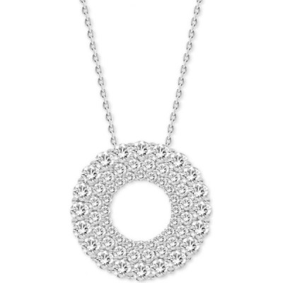 """メイシーズ Macy's レディース ネックレス ジュエリー・アクセサリー Diamond Circle 18"""" Pendant Necklace (1 ct. t.w.) in 14k White Gold 14K White Gold"""