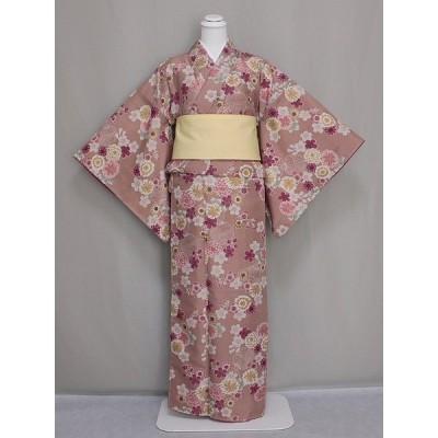 高級ブランド R-KIKUCHIのおしゃれな袷仕立て着物・小紋 変わり織 送料無料 W0453-25