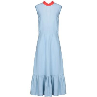 レジーナ・ピョ REJINA PYO ロングワンピース&ドレス スカイブルー 6 レーヨン 66% / 麻 34% ロングワンピース&ドレス