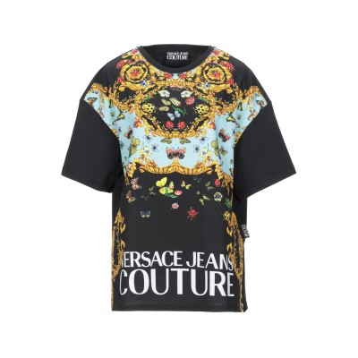 VERSACE JEANS COUTURE T シャツ ブラック XS コットン 100% T シャツ
