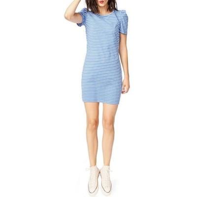 コート&ロー レディース ワンピース トップス Classic Stripe Puff Sleeve Knit Cotton Dress