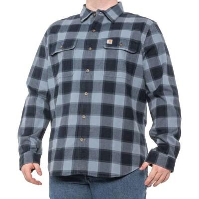 カーハート Carhartt メンズ シャツ スリム トップス 104144 Slim Fit Hubbard Plaid Shirt - Long Sleeve Steel Blue