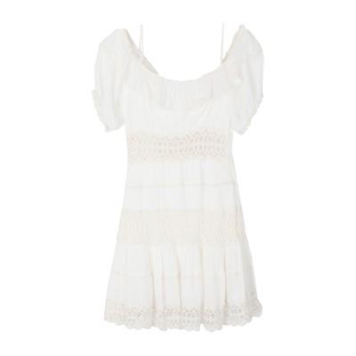FREE PEOPLE ミニワンピース&ドレス ホワイト 0 レーヨン 95% / レーヨン 5% / コットン ミニワンピース&ドレス