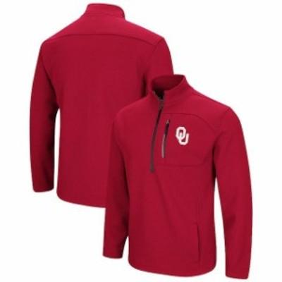 Colosseum コロセウム スポーツ用品  Colosseum Oklahoma Sooners Crimson Townie Half-Zip Pullover Jacket