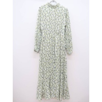 rienda(リエンダ)[2020]Floral Chiffonワンピース 長袖 黄/グレー レディース Aランク S