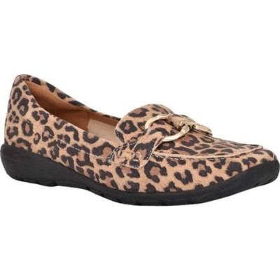 イージースピリット レディース オックスフォード シューズ Avienta Loafer Leopard Suede