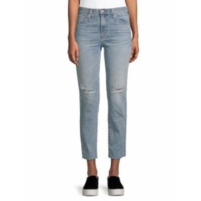 AG アドリアーノ ゴールドシュミード レディース パンツ デニム Isabelle Distressed Straight Cropped Jeans