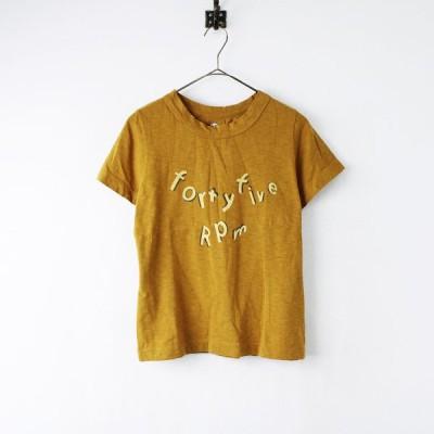 45rpm フォーティーファイブ ジンバブエコットン ロゴプリント Tシャツ 1/マスタード系 トップス 2400011870681