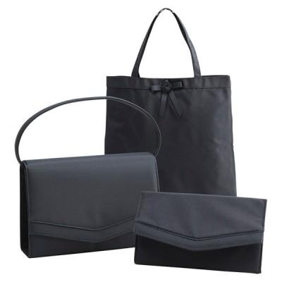 フォーマル3点セット(ブラック) ブラック 12-8181 バッグ