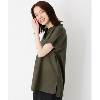 BLESSE BLIGE(ブレスブリージュ) キーネックコットン(綿)シャツ