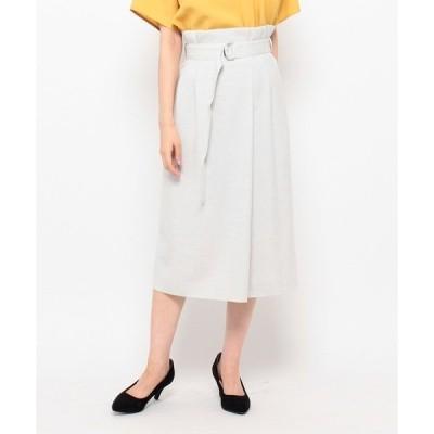 スカート リネーラオックスラップ風スカート