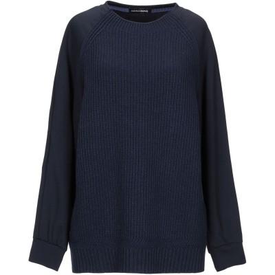 EUROPEAN CULTURE スウェットシャツ ダークブルー XS バージンウール 40% / レーヨン 30% / ナイロン 20% / カシ