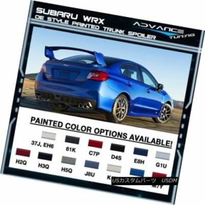 フィット15-18スバルWRX STI OE塗装トランクスポイラーすべてのOEM着色