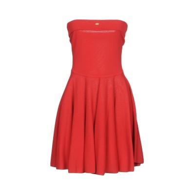 ELISABETTA FRANCHI ミニワンピース&ドレス レッド 40 65% レーヨン 35% ナイロン ミニワンピース&ドレス