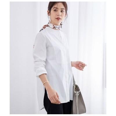 ROPE' / ロペ 【新色追加】バンドカラーブロードチュニックシャツ