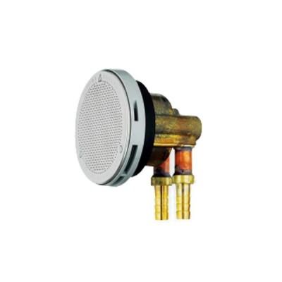 カクダイ:一口循環金具(ペアホース用) 10A 型式:415-122