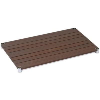 [WS7645-BR]棚板 ウッドシェルフ スチールシェルフ幅76cm奥行46cm(スリーブ別売)【ポール径25mm】ブラウン