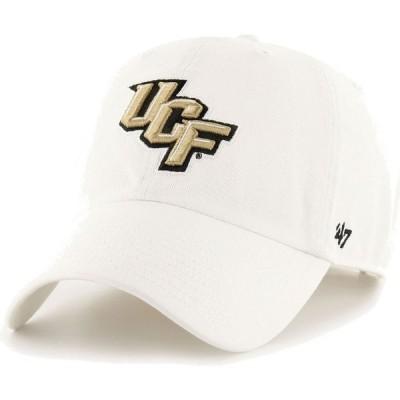 フォーティセブン 47 メンズ キャップ 帽子 ' UCF Knights OHT Clean Up Adjustable White Hat