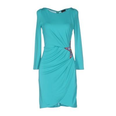 ジャストカヴァリ JUST CAVALLI ミニワンピース&ドレス ターコイズブルー 44 レーヨン 100% ミニワンピース&ドレス
