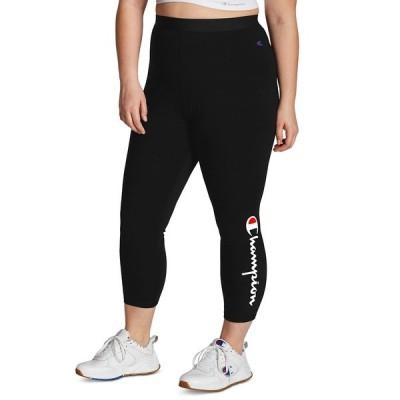 チャンピオン カジュアルパンツ ボトムス レディース Plus Size Authentic 7/8 Leggings Black