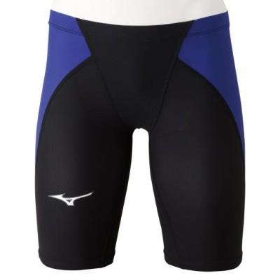 ミズノ 競泳用MX・SONIC α ハーフスパッツ[メンズ] 92ブラック×ブルー L スイム 競泳水着 N2MB0011