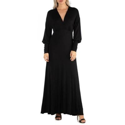 24セブンコンフォート レディース ワンピース トップス Women's Formal Long Sleeve Maxi Dress