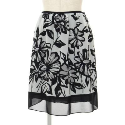 エムズグレイシー スカート ウール サイドフラワー 花柄 38