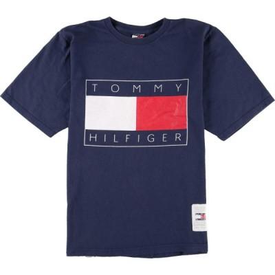 90年代 トミーヒルフィガー TOMMY HILFIGER 半袖 ロゴTシャツ USA製 メンズS ヴィンテージ /eaa161601