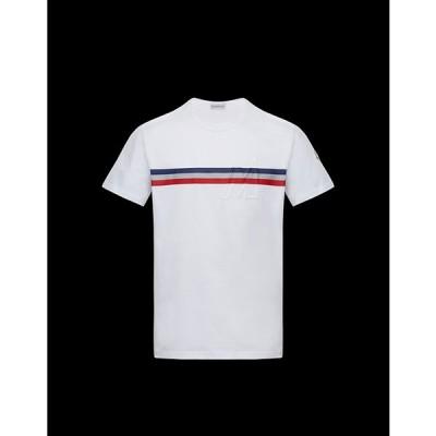 2020/21秋冬新作☆MONCLER【モンクレール】メンズT-SHIRTTシャツ【Bianco 】【送料無料】【正規品】