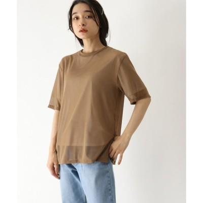 tシャツ Tシャツ チュール重ねTシャツ