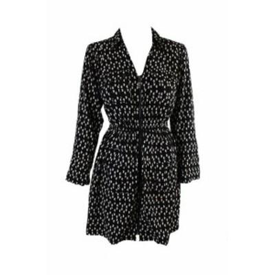 Alfani  ファッション ドレス Alfani Noir Blanc Imprime Robe Chemise 2