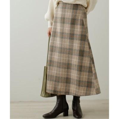 スカート BIGチェックAラインスカート